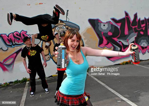 Breakdancers 'Originally Hated' along with Megan Kinsley strike a pose at the photocall in the Tivoli Theatre carpark to publicise the upcoming third...