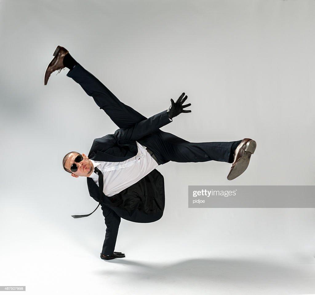 breakdancing businessman, free run