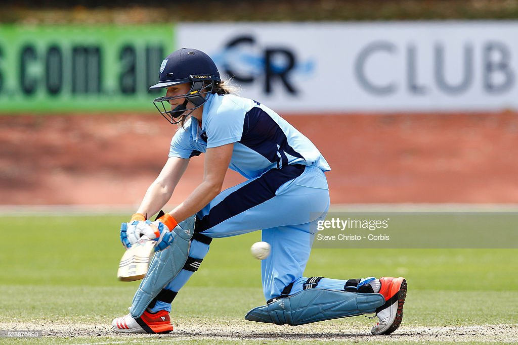 Breakers Ellyse Perry on her way to a half century against Queensland Fire at Hurstville Oval in Sydney Australia Sunday Nov 1st 2015