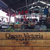 breakfast at Queen Victoria Market in Melbourne Australia