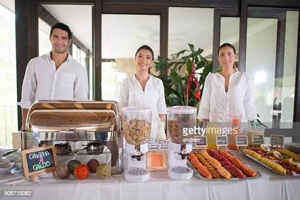 Breakfast buffet at a hotel