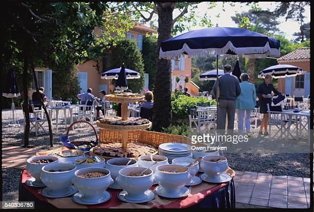 Breakfast Buffet at Hotel Le Mas du Langoustier