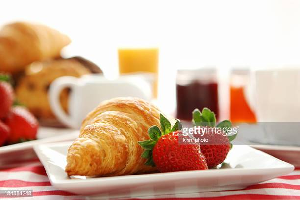 breakfast- croissant and coffee