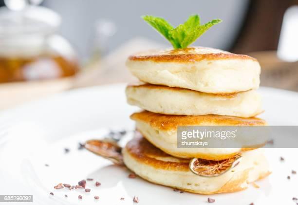 Breakfast fritter with jam