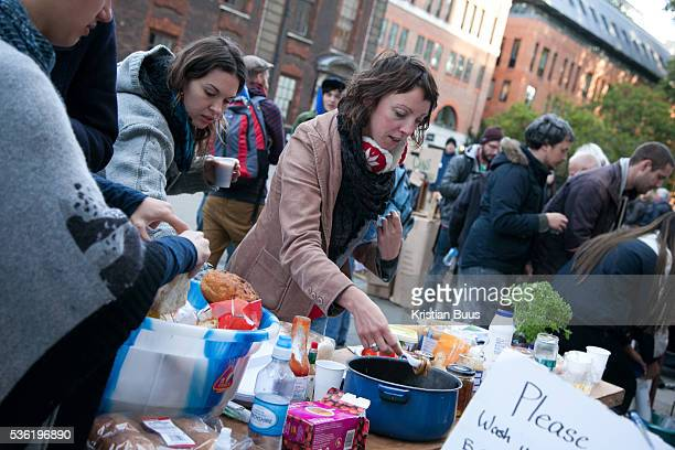 Breakfast in a makeshift kitchen Day three of the occupation and the first Monday The Occupy London Stock Exchange movement was formed in London in...