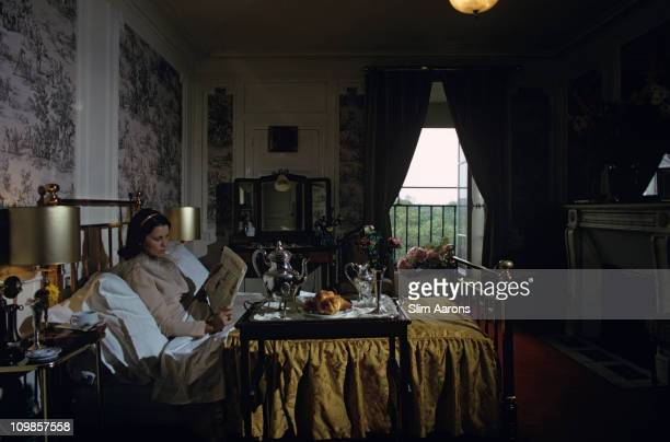 Breakfast in bed at the Hotel Brighton in Paris June 1973