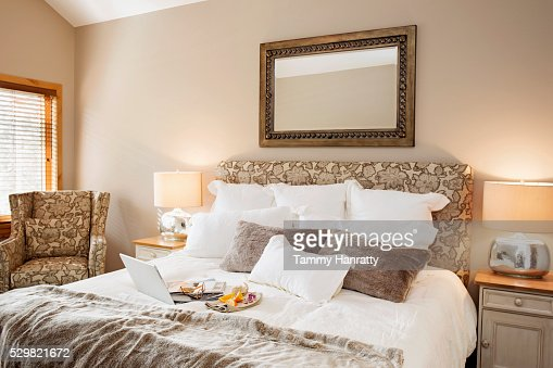 Breakfast in bed : Foto stock