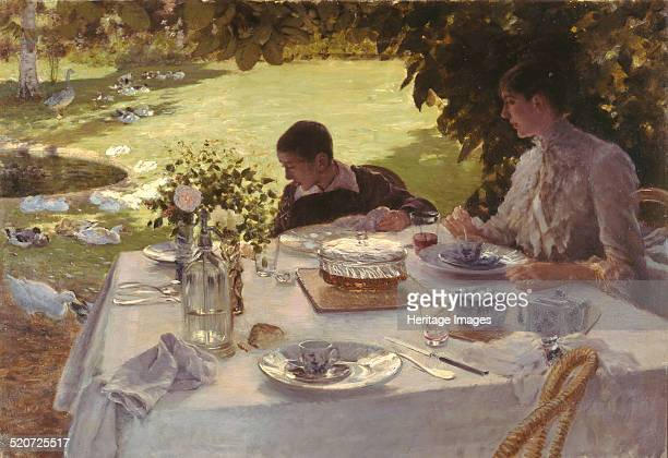 Breakfast in the garden Found in the collection of Pinacoteca Giuseppe De Nittis Barletta