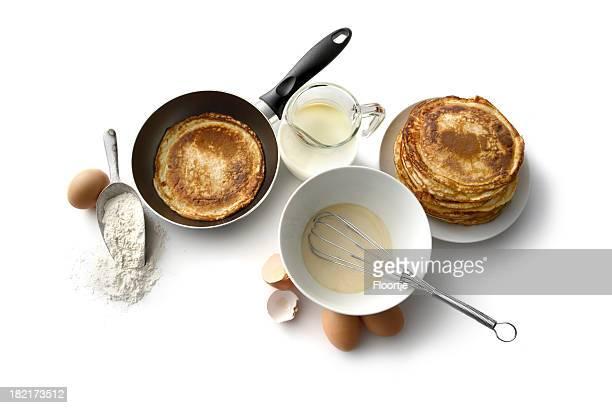 Frühstück Zutaten: Pfannkuchen