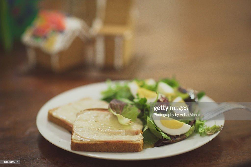 Breakfast on table : Stock Photo