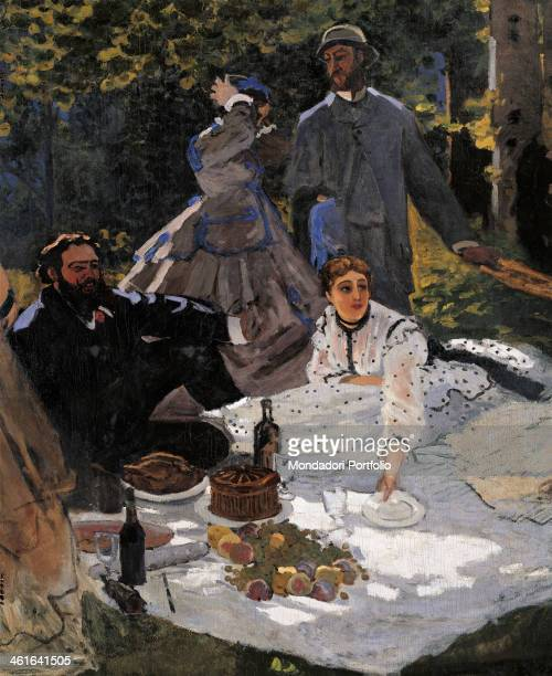 Breakfast on the Grass by Claude Monet 19th Century oil on canvas France Paris Musée d'Orsay Detail One of the two surviving parts of this monumental...