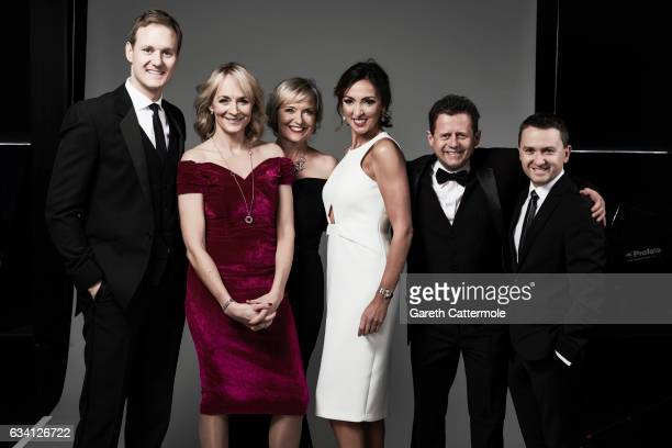 BBC Breakfast presenters Dan Walker Louise Minchin Carol Kirkwood Sally Nugent Mike Bushell and guest attend the National Television Awards Portrait...