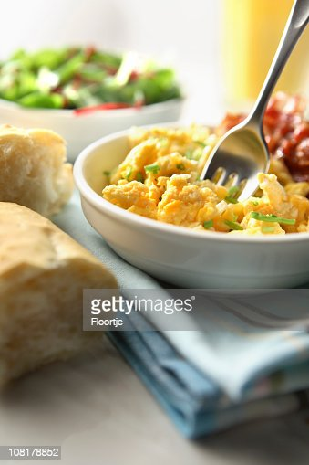 scrambled eggs : Stock Photo