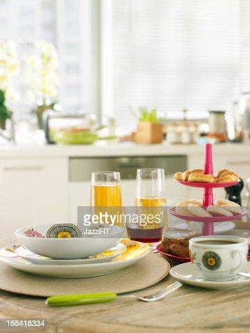 Breakfast table : Stock Photo