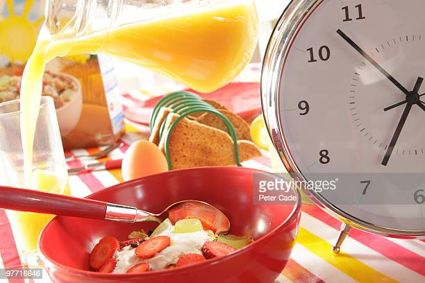 Breakfast Table With Large Clock