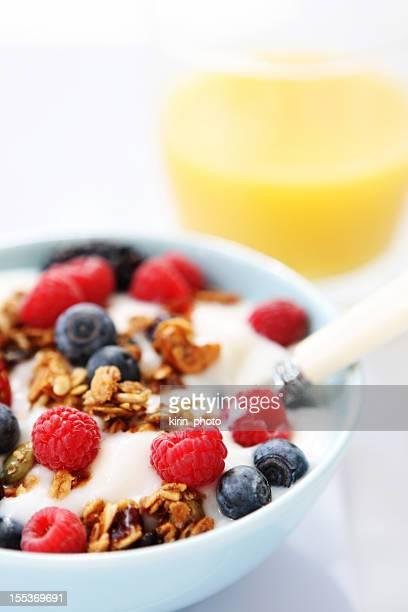 Frühstück mit Joghurt-Tisch
