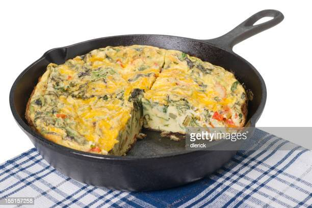Breakfast Vegetable and Cheese Egg Frittata