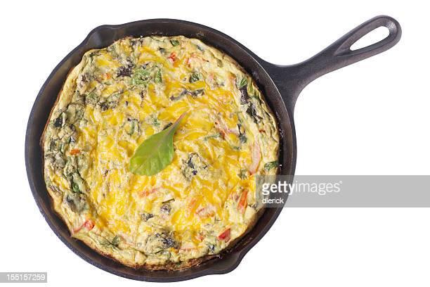 Prima colazione di verdure e formaggio Frittata di albume