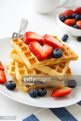 Breakfast waffles.