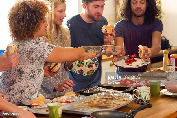 Frühstück mit Freunden
