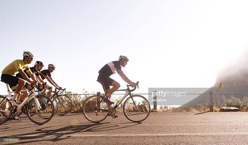 Breaking away from the pack : Stock Photo