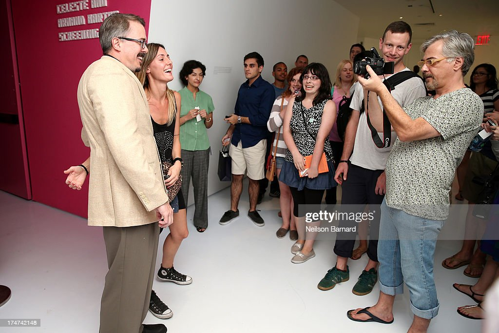 Breaking Bad creator Vince Gilligan (L) attends Making Bad: An Evening with Vince Gilligan at Museum of Moving Image on July 28, 2013 in New York City.