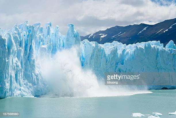 遮断 ice 層から降り注ぐペリトモレノ氷河