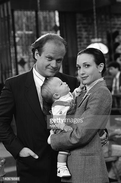 CHEERS 'Breaking In Is Hard To Do' Episode 7 Air Date Pictured Kelsey Grammer as Dr Frasier Crane Baby Fredrick Bebe Neuwirth as Dr Lilith...