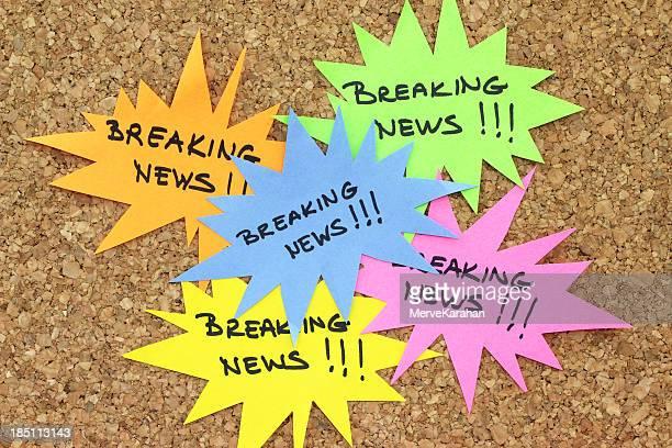 Breaking News on bulletin board