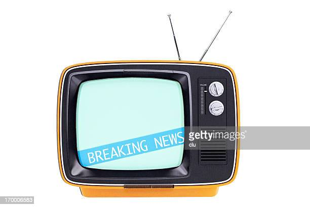 Breaking news on vintage tv