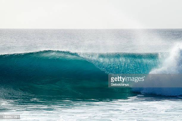 Breaking wave at reef in Sal, Cape Verde (Ponta Preta).