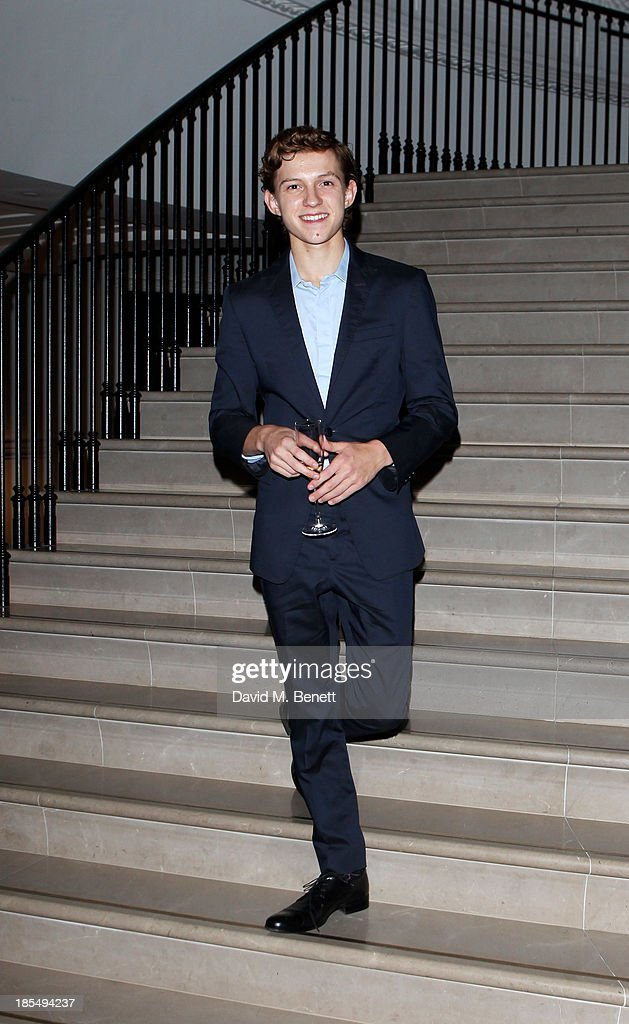 Breakthrough Brit Tom Holland attend the BAFTA 'Breakthrough Brits' event at Burberry 121 Regent Street, London on October 21, 2013 in London, United Kingdom.