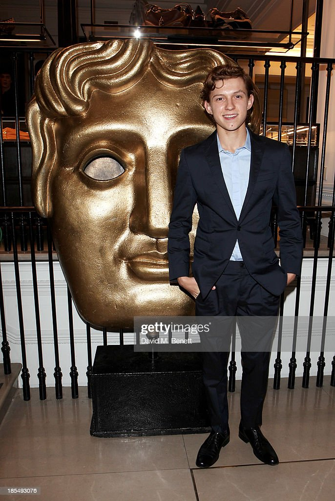 Breakthrough Brit <a gi-track='captionPersonalityLinkClicked' href=/galleries/search?phrase=Tom+Holland+-+Actor&family=editorial&specificpeople=9843230 ng-click='$event.stopPropagation()'>Tom Holland</a> attends the BAFTA 'Breakthrough Brits' event at Burberry 121 Regent Street, London on October 21, 2013 in London, United Kingdom.