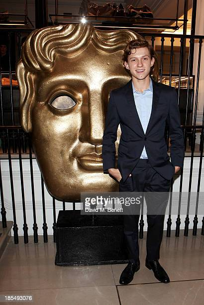 Breakthrough Brit Tom Holland attends the BAFTA 'Breakthrough Brits' event at Burberry 121 Regent Street London on October 21 2013 in London United...