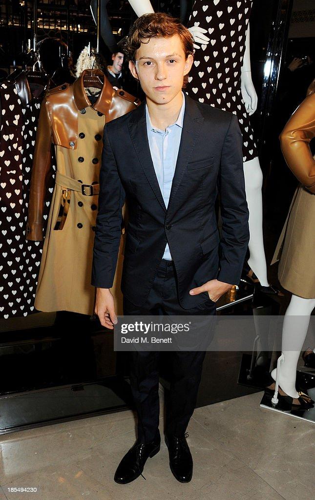 Breakthrough Brit Tom Holland attends the BAFTA 'Breakthrough Brits' event at Burberry 121 Regent Street, London on October 21, 2013 in London, United Kingdom.