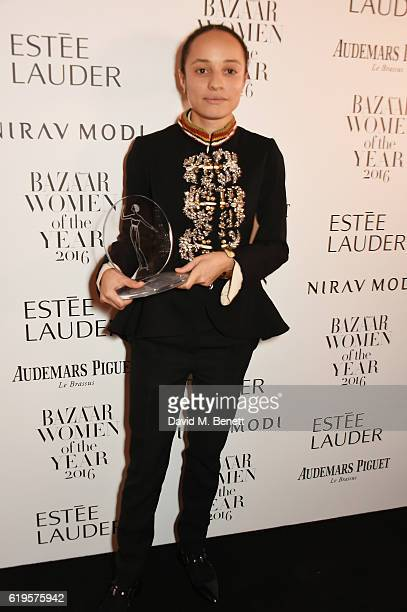 Breakthrough Designer of the Year winner Grace Wales Bonner attends the Harper's Bazaar Women of the Year Awards 2016 at Claridge's Hotel on October...