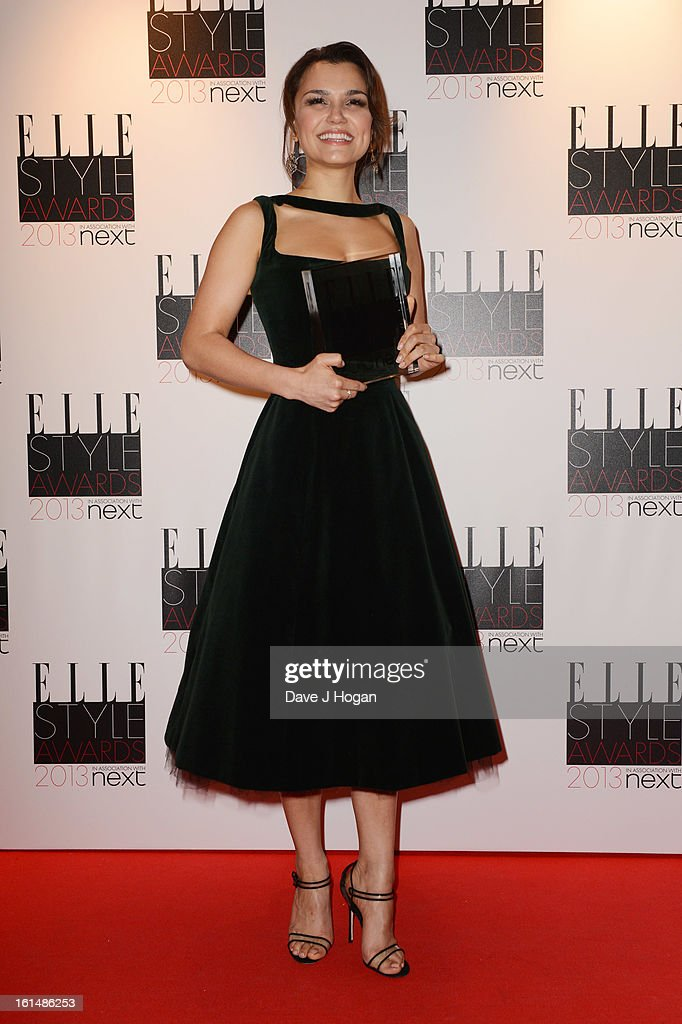 Breakthrough Performance wiiner Samantha Barks poses in the press room at The Elle Style Awards 2013 at The Savoy Hotel on February 11, 2013 in London, England.