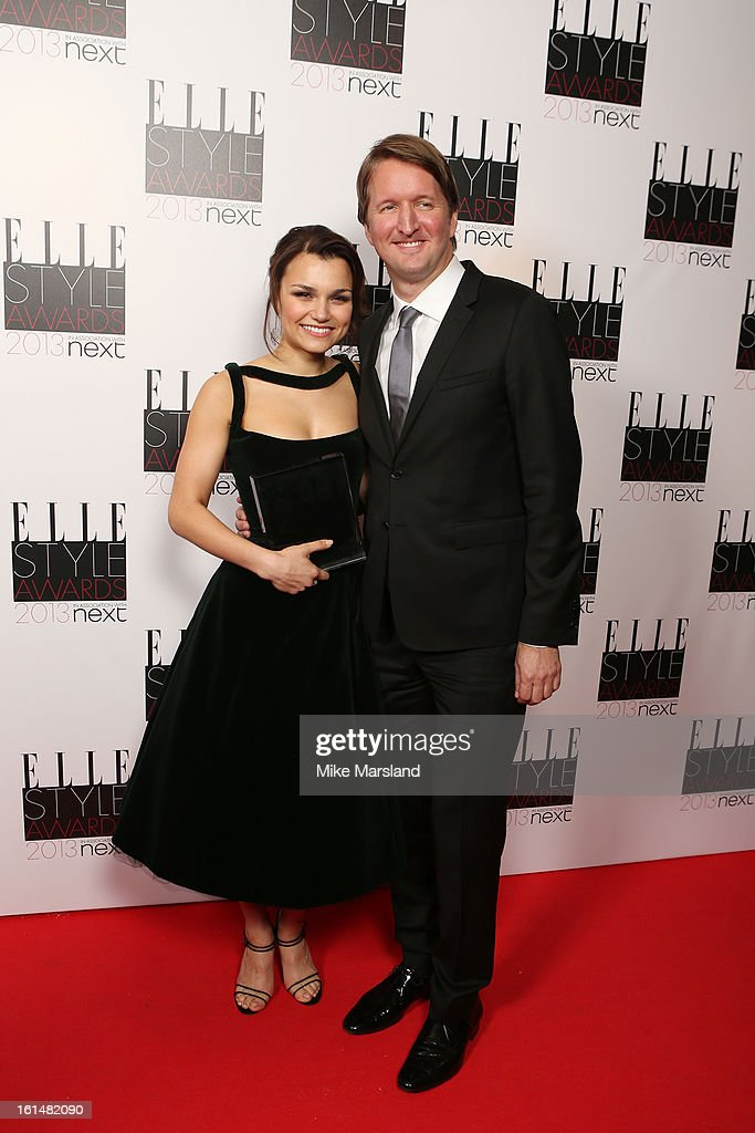 Breakthrough Performance winner Samantha Barks and director Tom Hooper pose in the press room at the Elle Style Awards at The Savoy Hotel on February...