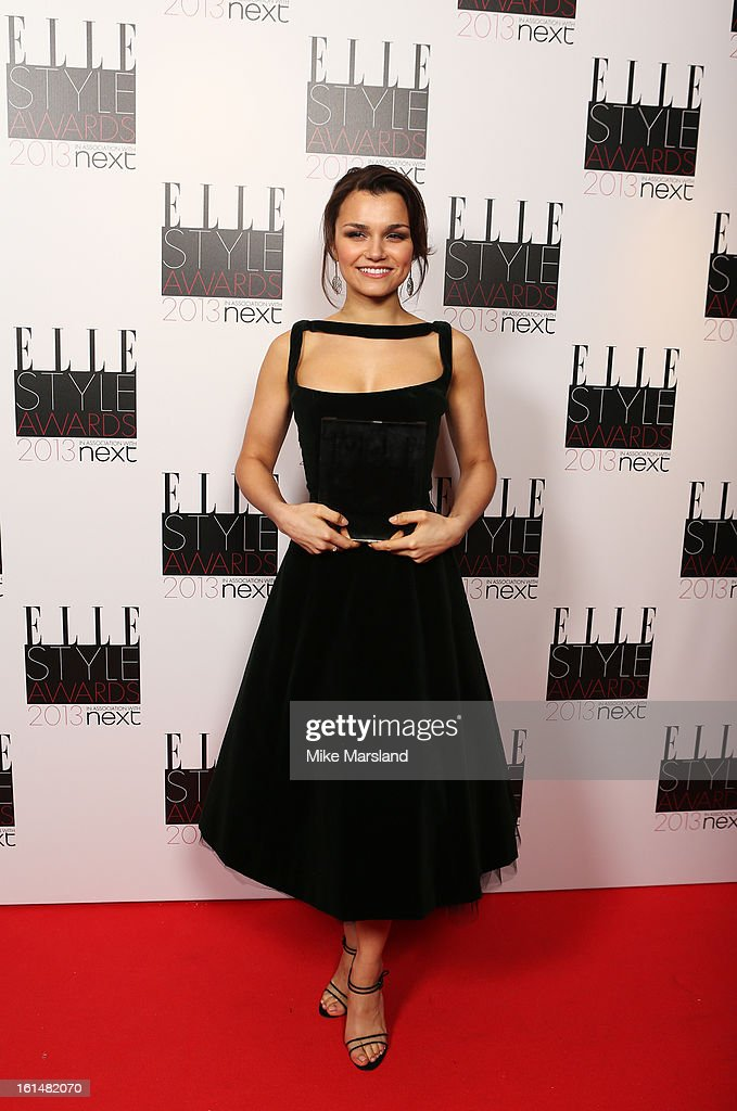 Breakthrough Performance winner Samantha Barks poses in the press room at the Elle Style Awards at The Savoy Hotel on February 11 2013 in London...