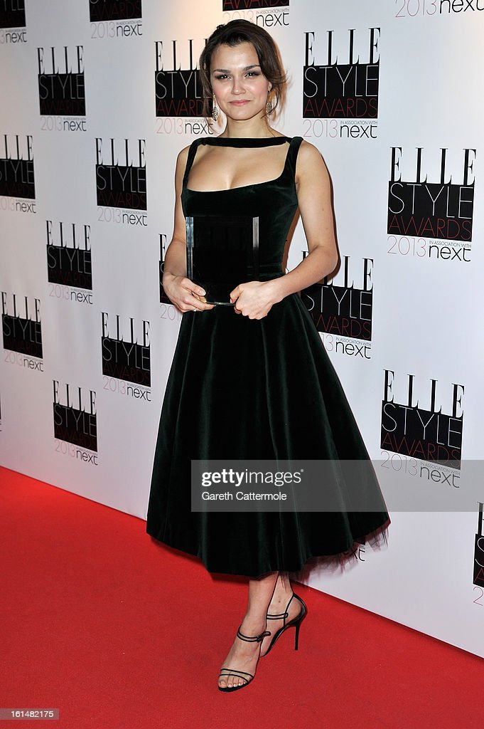 Breakthrough Performance winner Samantha Barks poses in the press room during the Elle Style Awards at The Savoy Hotel on February 11 2013 in London...