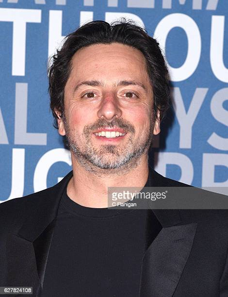 Breakthrough Prize Cofounder and Cofounder of Google Sergey Brin attends the 2017 Breakthrough Prize at NASA Ames Research Center on December 4 2016...