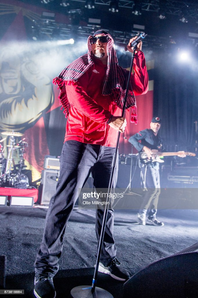 B-Real of Cypress Hill and Tom Morello of Rage Against The Machine perform as part of Prophets of Rage live on stage at the O2 Forum Kentish Town on November 13, 2017 in London, England.
