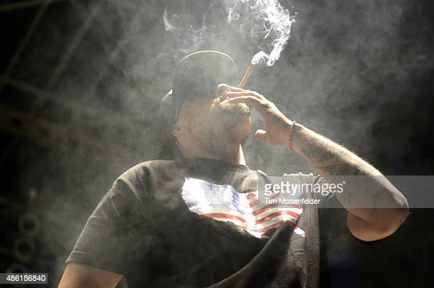 Real of Cypress Hill performs during Riot Fest at the National Western Complex on August 28 2015 in Denver Colorado