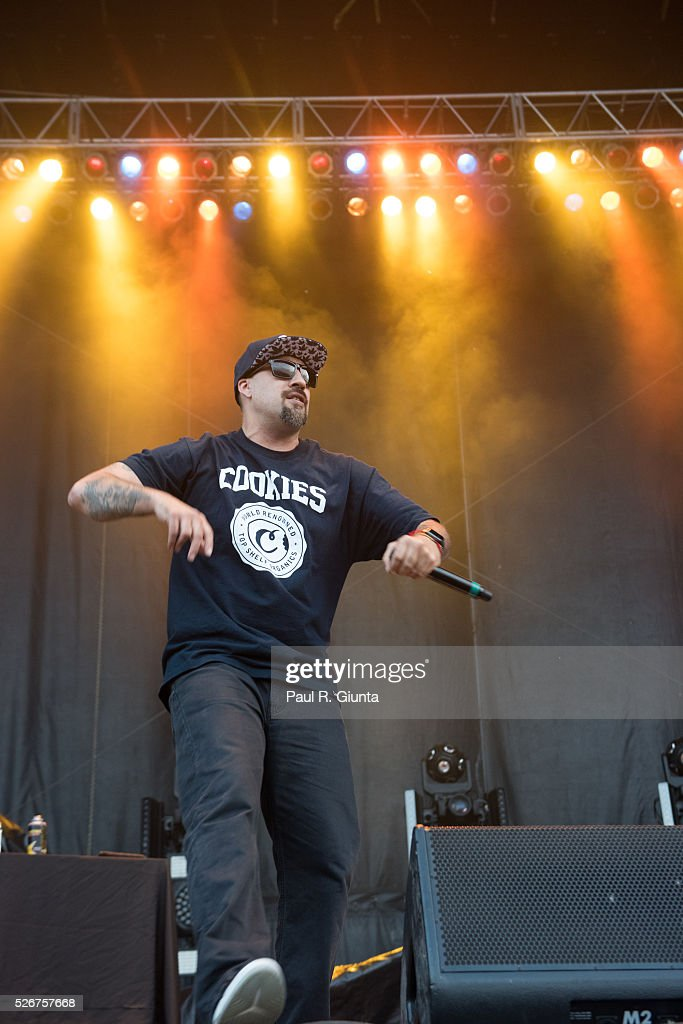 B-Real of Cypress Hill performs on stage at the Beale Street Music Festival on April 30, 2016 in Memphis, Tennessee.