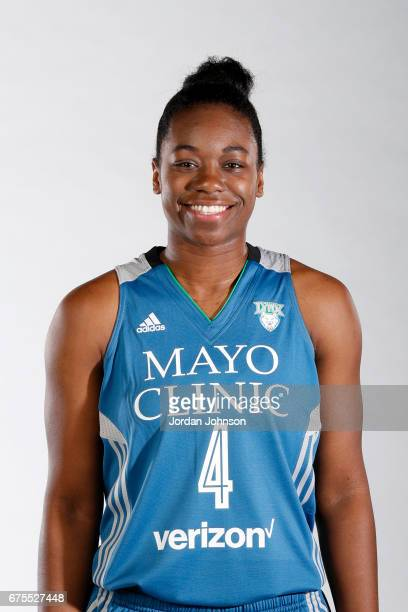 Breanna Richardson of the Minnesota Lynx poses for portraits during 2017 Media Day on May 1 2017 at the Minnesota Timberwolves and Lynx Courts at...