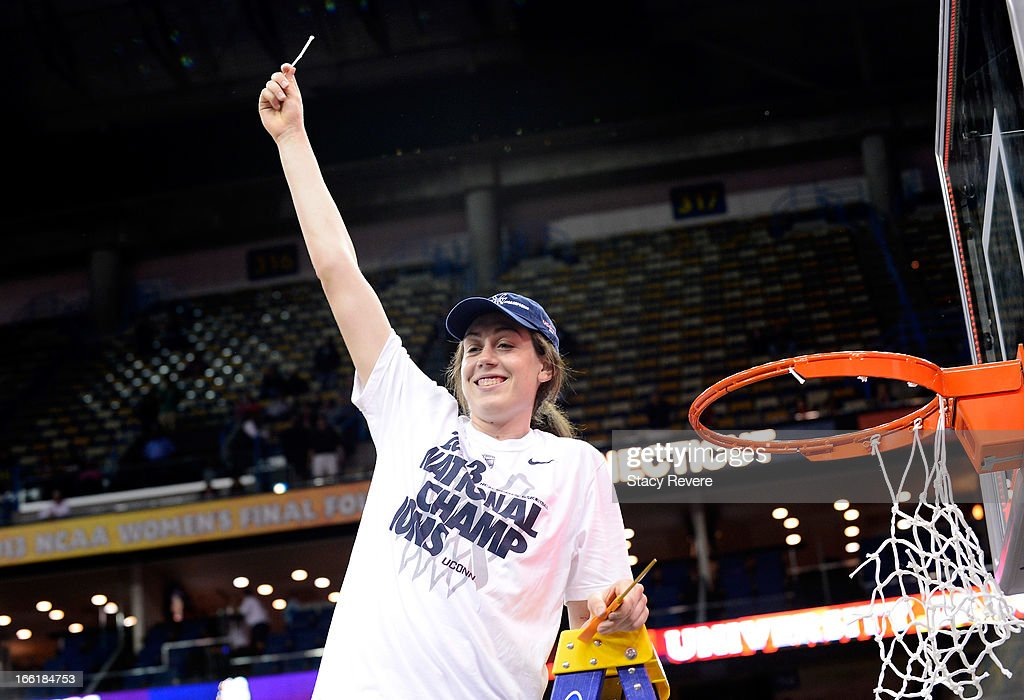 Breanna Stewart #30 of the Connecticut Huskies cuts down the net after defeating the Louisville Cardinals during the 2013 NCAA Women's Final Four Championship at New Orleans Arena on April 9, 2013 in New Orleans, Louisiana.