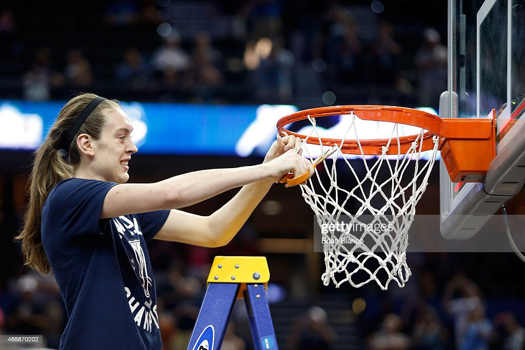 <a gi-track='captionPersonalityLinkClicked' href=/galleries/search?phrase=Breanna+Stewart&family=editorial&specificpeople=8564806 ng-click='$event.stopPropagation()'>Breanna Stewart</a> #30 of the Connecticut Huskies cuts the net after defeating the Notre Dame Fighting Irish 63-53 during the NCAA Women's Final Four National Championship at Amalie Arena on April 7, 2015 in Tampa, Florida.