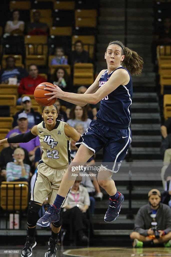 <a gi-track='captionPersonalityLinkClicked' href=/galleries/search?phrase=Breanna+Stewart&family=editorial&specificpeople=8564806 ng-click='$event.stopPropagation()'>Breanna Stewart</a> #30 of the Connecticut Huskies jumps for a rebound during an NCAA women's basketball game against the UCF Knights at the CFE Arena on January 21, 2015 in Orlando, Florida.