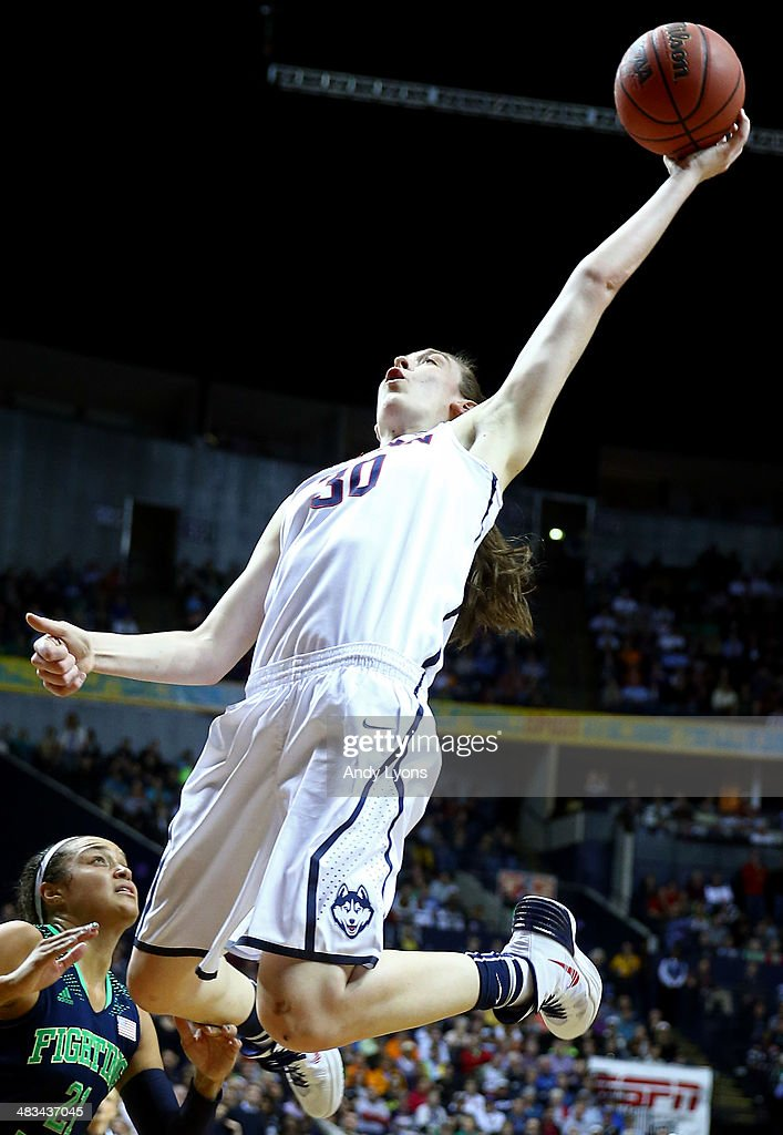 <a gi-track='captionPersonalityLinkClicked' href=/galleries/search?phrase=Breanna+Stewart&family=editorial&specificpeople=8564806 ng-click='$event.stopPropagation()'>Breanna Stewart</a> #30 of the Connecticut Huskies rebounds against shoots the ball against <a gi-track='captionPersonalityLinkClicked' href=/galleries/search?phrase=Kayla+McBride&family=editorial&specificpeople=9017392 ng-click='$event.stopPropagation()'>Kayla McBride</a> #21 of the Notre Dame Fighting Irish during the NCAA Women's Final Four Championship at Bridgestone Arena on April 8, 2014 in Nashville, Tennessee.