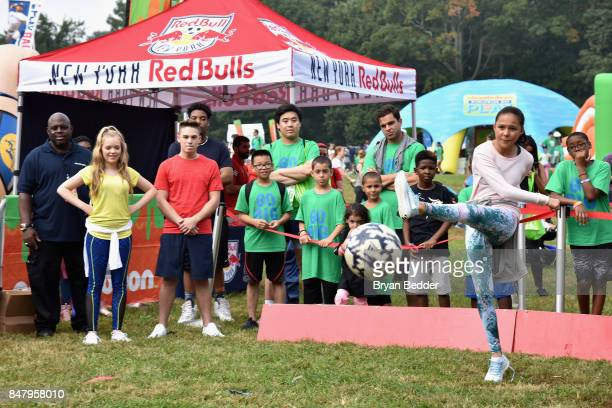 Breanna Yde attends Nickelodeon's Worldwide Day Of Play Celebration at the Nethermead in Prospect Park on September 16 2017 in Brooklyn New York